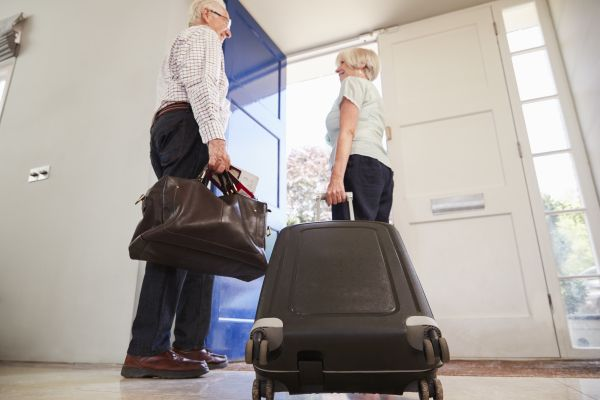 Pulling Luggage Out The Door