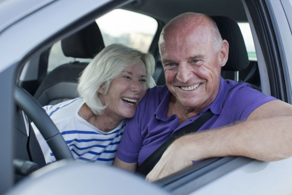 Senior Living Couple In Car