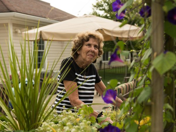 Senior Living Resident Gardening | Kingston Marion