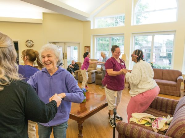 Residents Dancing at Kingston Residence of Marion