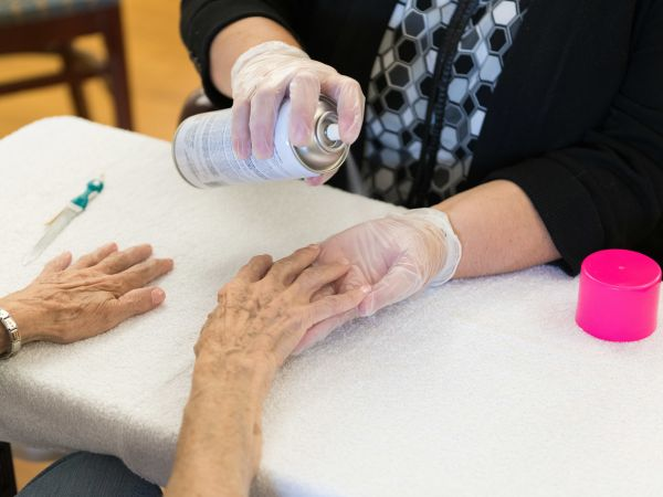 Resident Getting Nails Done | Kingston Marion