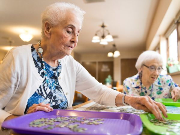 Residents Doing a Puzzle | Kingston Marion