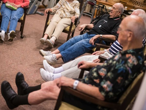 Exercise Activity at Kingston's Assisted Living Community in Vermilion