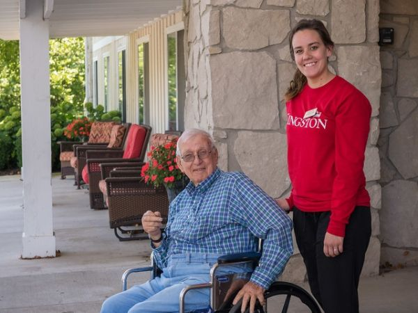 Assisted Living Resident and Employee | Kingston Residence of Ft Wayne