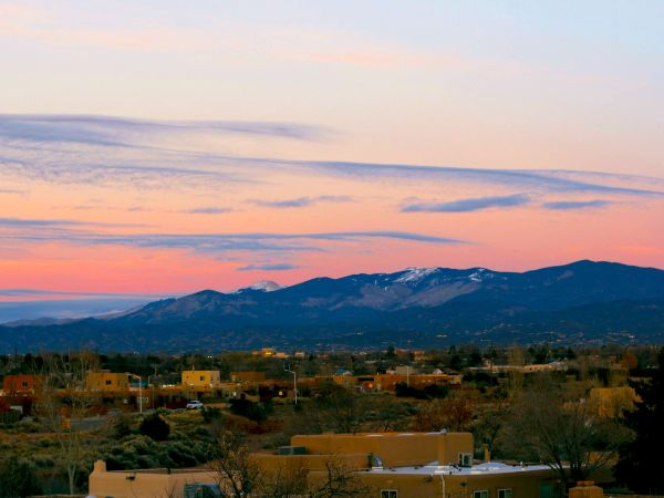 Evening Mountain View at Kingston Assisted Living in Santa Fe